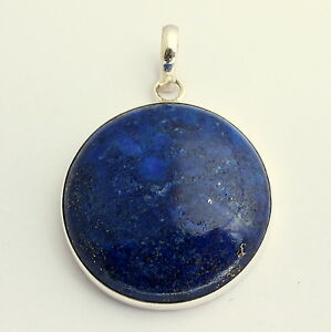 Lapis-Lazuli-edelstein-Anhaenger-in-925-SterlingSilber-Schmuck-Blau-Natur-Schoen