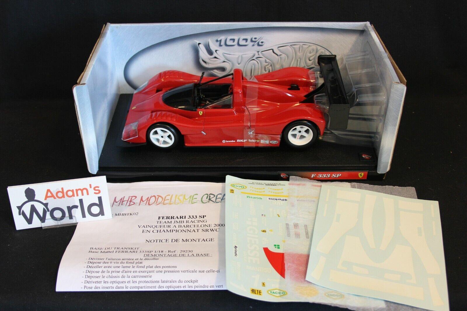 Hot Wheels unbuilt transkit Ferrari 333 SP 1 18   1 winner SRWC Barcelona (PJBB)