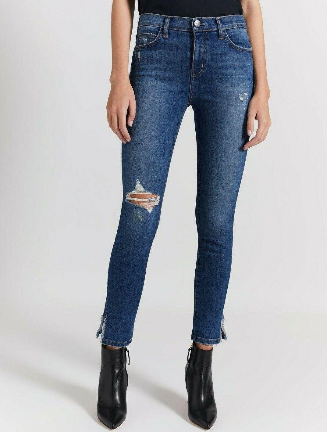 218  Nuevo con Etiqueta Current Elliott Sz26 la Aguja Midrise Skinny Jeans