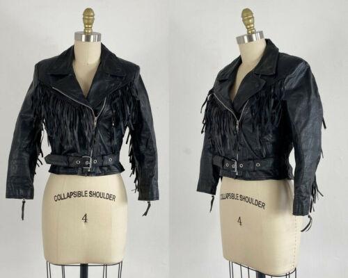 1980s Motorcycle Jacket - Fringe Motorcycle Jacket