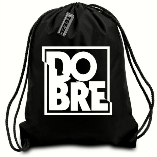 Black /& White Dobre Brothers drawstring bag,Gaming,swimming bag,water resistant