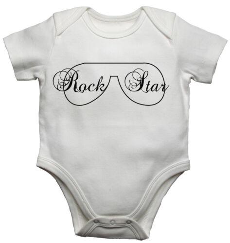 Rock Star-nouveau personnalisé bébé gilets bodysuits Garçons Filles-Blanc
