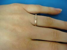 14K ROSE GOLD 2 MM FLAT SATIN LADIES BAND, SIZE 6.