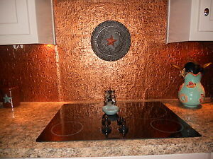 details about roll of faux tin kitchen backsplash wc40 ant copper 15