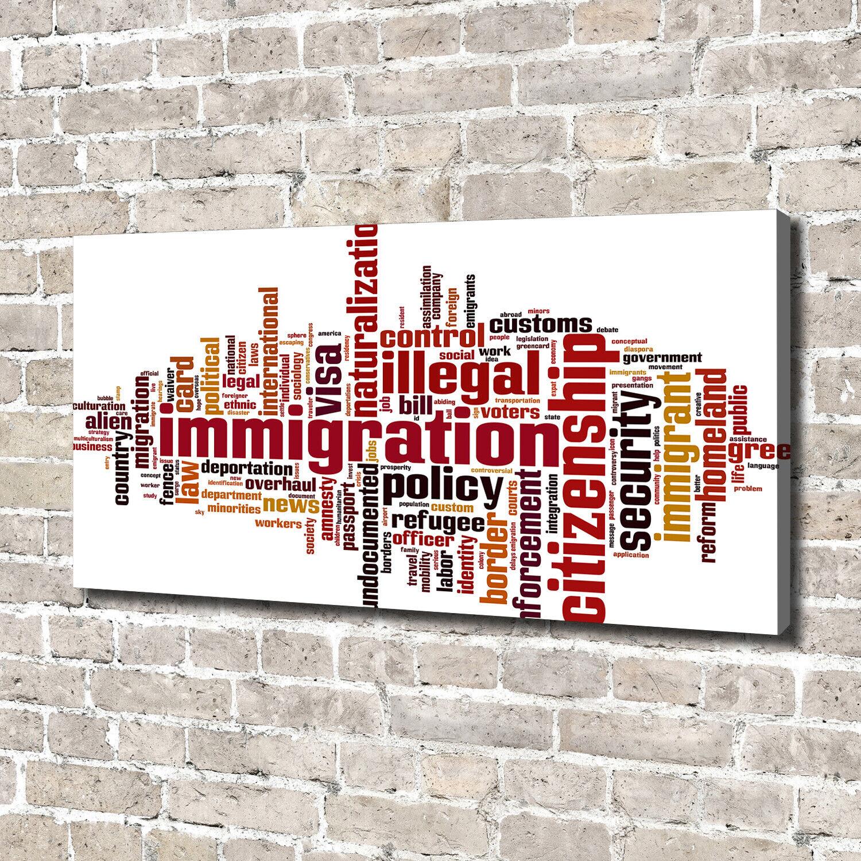 Leinwandbild Kunst-Druck 140x70 Bilder Sprüche Einwanderung