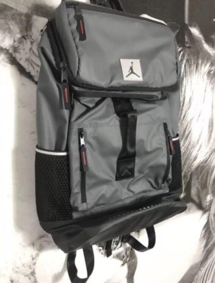 11e58ac55873 Nike Air Jordan Breakfast Club Backpack Laptop Bag Dark Grey Black ...