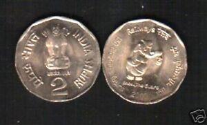 INDIA 2 Rupees 2002 Saint TUKARAM MUSICAL INSTRUMENT UNC COMMEMORATIVE COIN