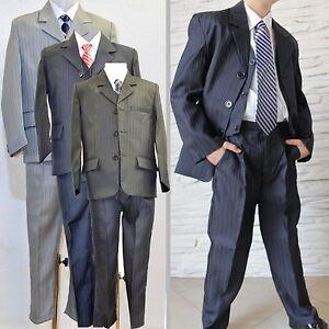 5PCS-comunion-ninos-traje-chaqueta-y-pantalon-de-fiesta-fumar-BAUTIZO-BODA-158