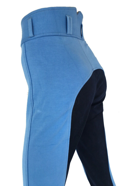 New  Ladies bluee Breeches, Womens Jodhpurs, Jodphurs, Full Seat Suede Sizes 8-18.  100% free shipping