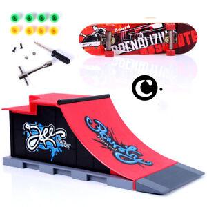 Mini Skate Park Ramp Parts Tech Deck Fingerboard Finger Skateboard Gifts