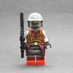 Custom Star Wars minifigures Gar Saxon S7 v2 on lego brand bricks