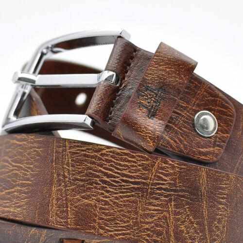 Cintura Uomo in Pelle per jeans ITALY sportiva Elegante Nera Marrone particolare