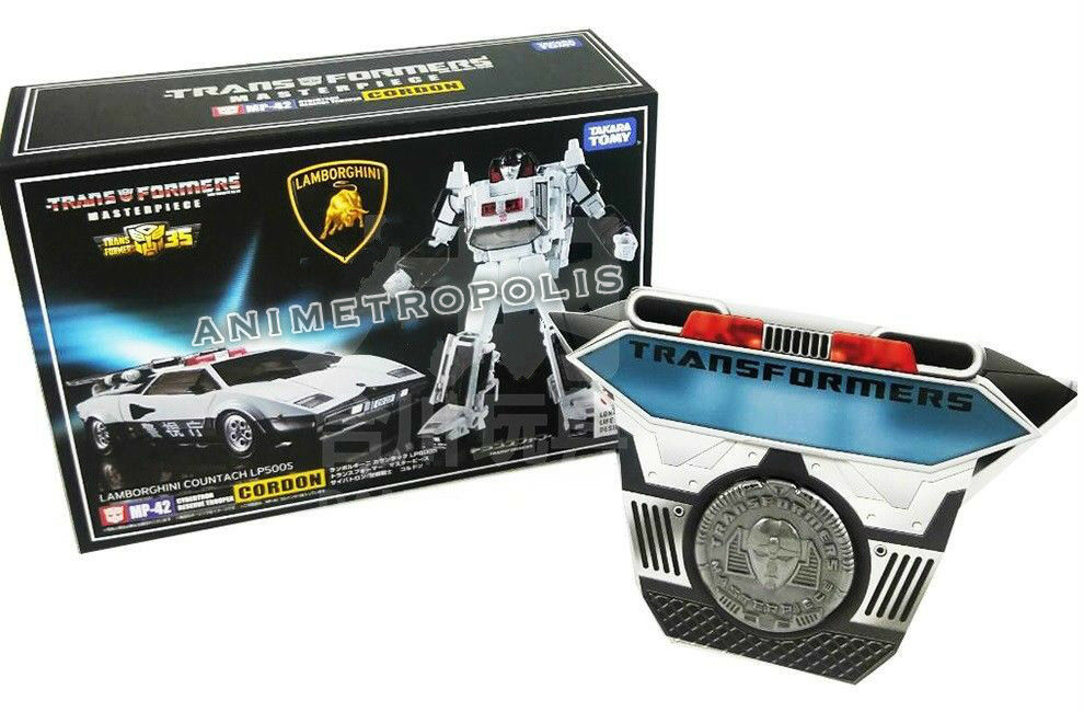 Transformers Masterpiece de Takara MP-42 Lamborghini Countach Cordon G1 figura sin usar y en caja sellada
