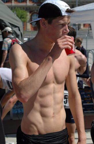 Shirtless Male Swimmer Build Jock Swim Meet Competition Hunk V PHOTO 4X6 C1970