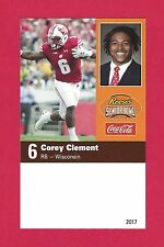 Corey Clement 2017 Reese'S Senior Bowl Wisconsin Badgers Rc Rookie Card