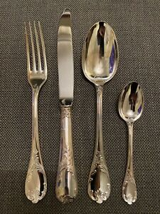 CHRISTOFLE-Dinner-Cutlery-Set-unused-Marly-Pattern-Excellent