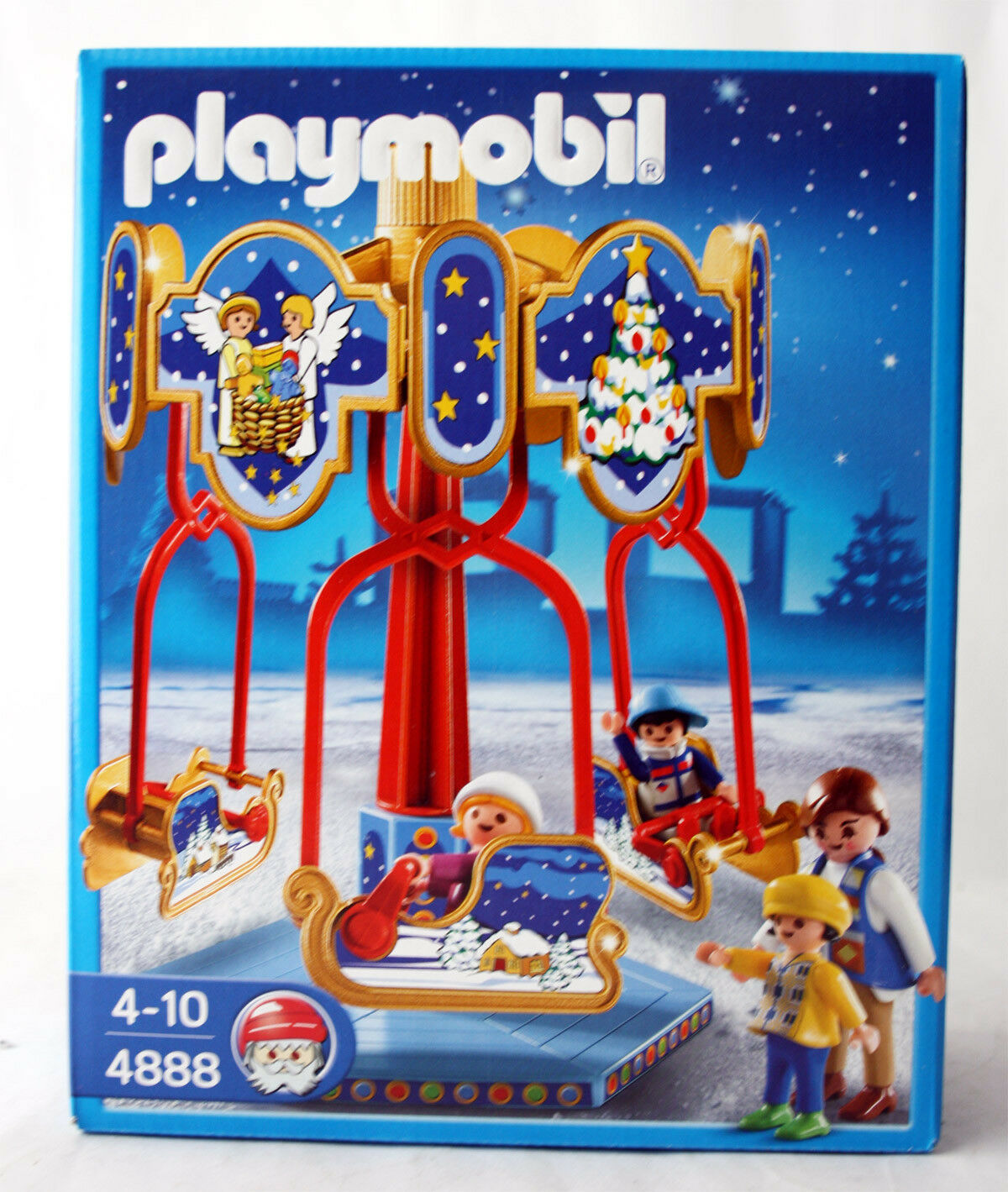 RARE 2009 PLAYMOBIL 4888 CHRISTMAS SLED autoOUSEL RETIrosso  nuovo SEALED MISB    protezione post-vendita