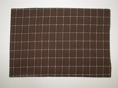 4 Lintex Reversible Placemats Brown White Squares 13 X 19 New Ebay