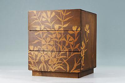Japanese Vintage Wood KOTANSU Small Chest Flower Pattern 453k08