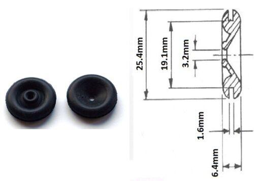 """Lucas Black Rubber Wiring Grommet 3mm Internal Hole 2 x Original 3//4/"""" 19mm"""
