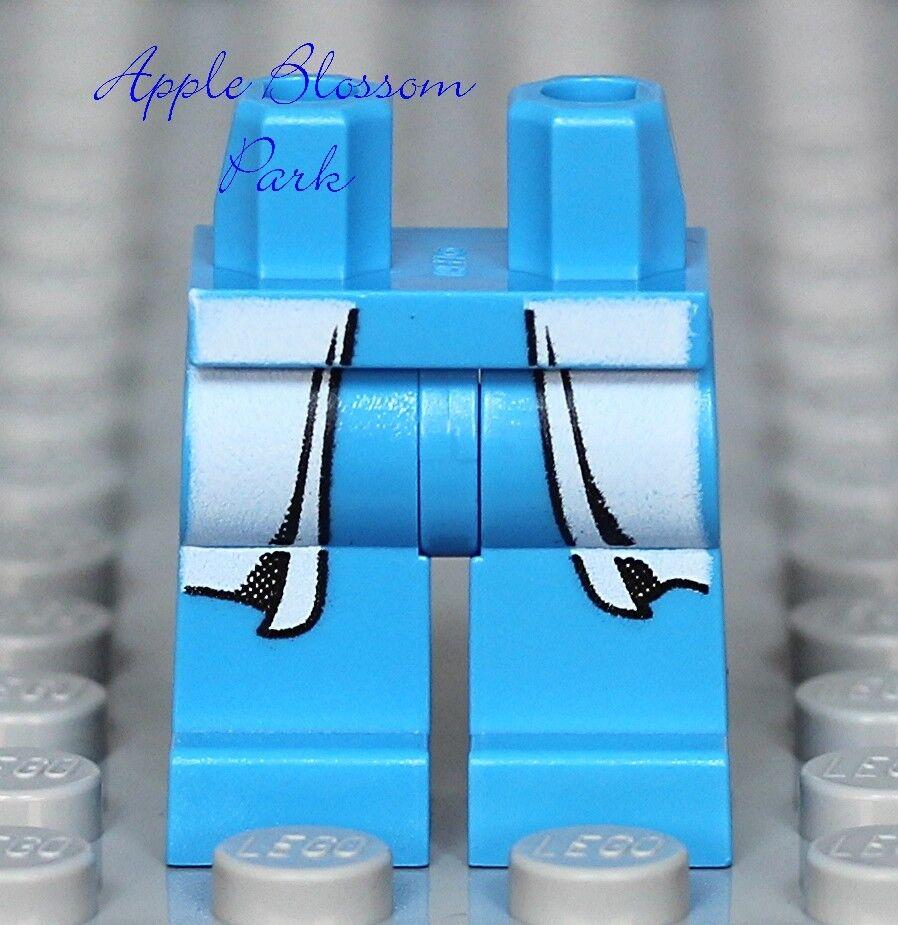 NEW Lego Blue Azure DOCTOR MINIFIG LEGS Hospital Nurse w//White Lab Coat Tails