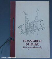 Prospekt LEUCHTREKLAME/Transparentgehäuse um 1955
