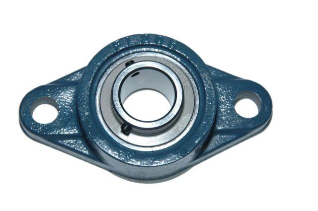 NEW High Quality UCFL206-30MM  30MM Set Screw Insert Bearing w// 2-Bolt Flange