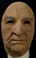 Old Man Face Mask Scary Halloween Haunt Costume Accessory Geezer