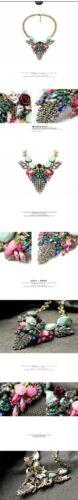 Collier Femme Pendantif Aile Bleu Rose Vif  Fleur Original Soirée Mariage JCR 2