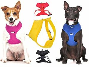 Padded-Waterproof-Adjustable-Pet-Puppy-Dogs-Non-Pull-Soft-Vest-Harness-or-Sets