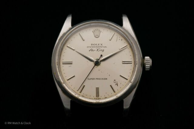 Vintage Rolex Air King Oyster Perpetual Stainless Steel Case, Dial, & Hands