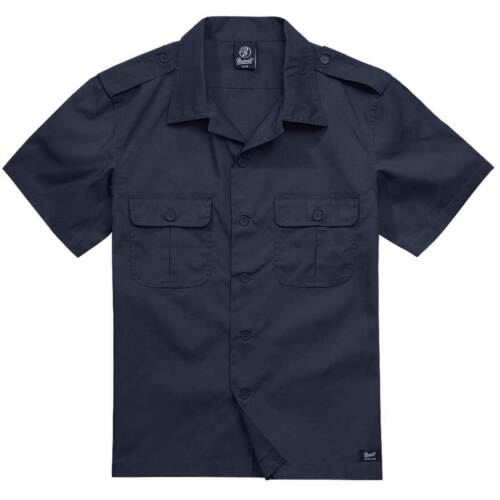 Brandit US Rip-Stop Chemise à manches courtes pour homme uniforme Summer Top marin bleu marine