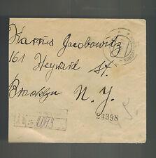 1922 Noworadomsky Poland Registered Cover to Brooklyn USA