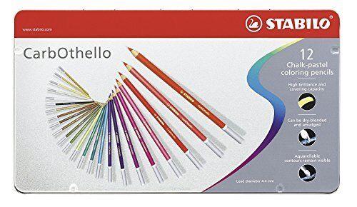 Japan new Stabilo CarbOthello Chalk-Pastel Colored Pencil 12-60 Color Set
