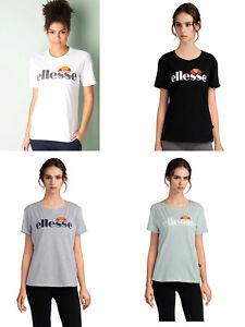 Ellesse-Donna-Ragazze-Manica-Corta-Scollo-Tondo-Cotone-T-Shirt-Top-TEE-6-8-10-12-14