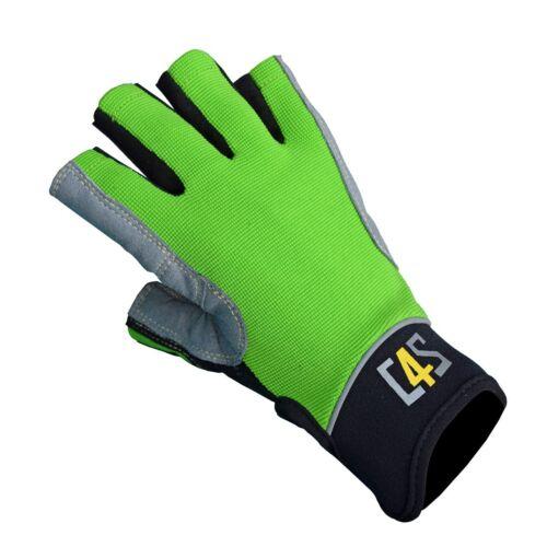crazy4sailing Amara Kunstleder Segelhandschuhe Racing 5 Finger frei Segeln Glove Bootsport