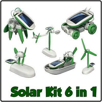Solar Kit 6 in 1 Bausatz Windrad Auto Lernspielzeug Kinder Spielzeug
