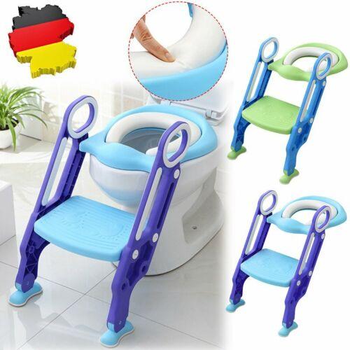 TOP Toilettentrainer Kinder Baby Toilettensitz WC Lerntöpfchen Faltbar Leiter DE