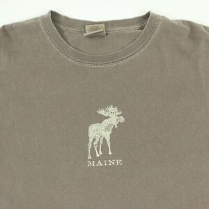 Maine-Moose-T-Shirt-XL-Faded-Earthtone-Brown-Neutral-Soft-Outdoors