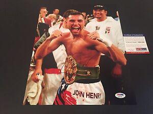 1ee315494f4f Oscar De La Hoya The Golden Boy 11x14 PHOTO Signed Auto PSA DNA COA ...
