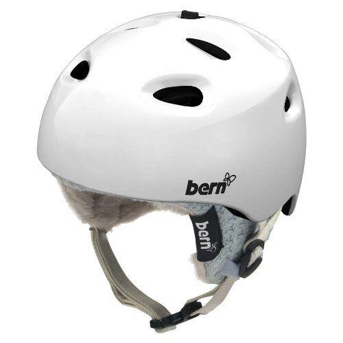 Bern Cougar Women's Ski Snowboard Helmet Gloss White XS (52-53.5cm) - New