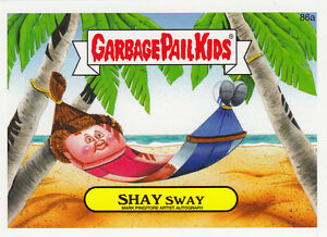 Losse kaarten 2014 TOPPS SERIES 2 GARBAGE PAIL KIDS SHAY SWAY GREEN PARALLEL #86A Garbage Pail Kids