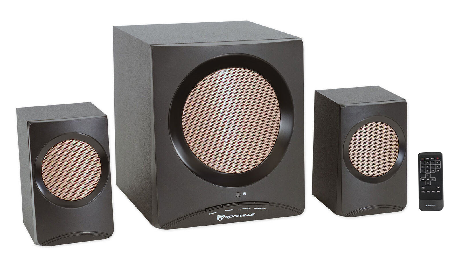 Rockville ROCK MEDIA Home/Computer Speakers+Subwoofer/Bluetooth/USB/SD/FM+Remote. Buy it now for 49.95