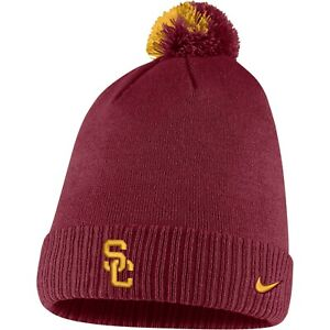 USC Trojans NCAA Cuffed Red Knit Beanie Hat