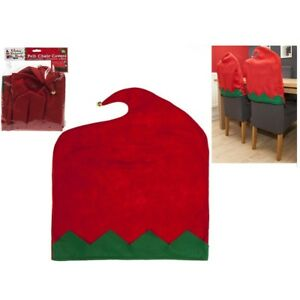Details About 2 X Felt Elf Chair Back Covers Dining Room Party Christmas Stretch Seat Kitchen