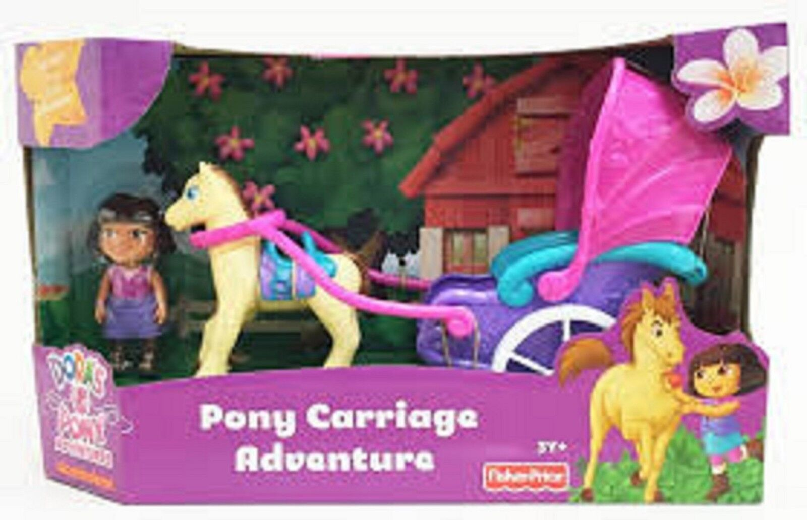 Fisher Price Dora the Explorer Magical Carriage Ride Playset 3+ Toy Play Doll