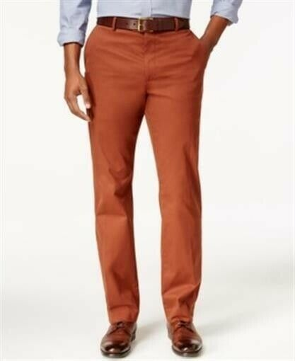 Tasso Elba #3022 NEW Men/'s Spiced Cider Signature Chino Pants MSRP $69.50