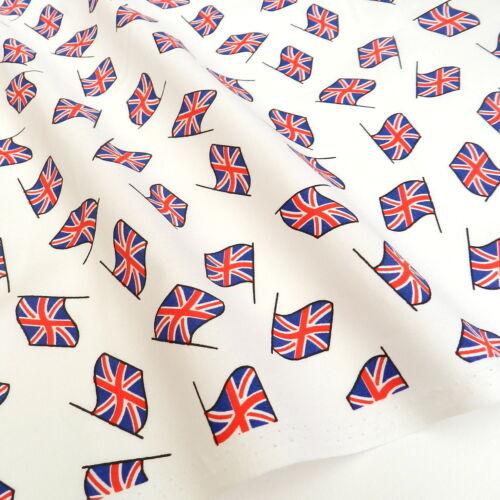 "White flag union jack fabric 100/% cotton 18 x 22 /"" per fat quarter"