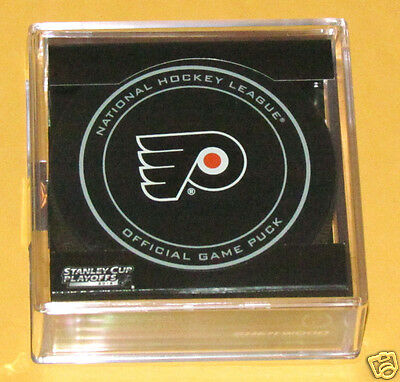 PHILADELPHIA FLYERS 2014 Stanley Cup Playoffs OFFICIAL GAME PUCK NEW Team Logo