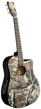 NEW IN-MO-1CE MOSSY OAK INDIANA DREADNOUGHT ACOUSTIC ELECTRIC GUITAR